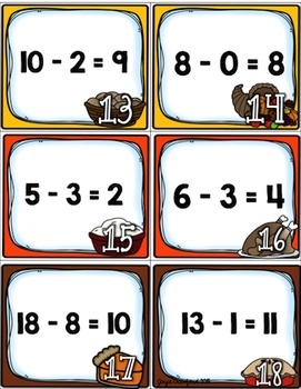 Math Task Cards: Thanksgiving Edition