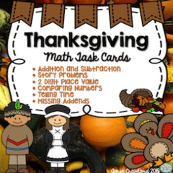 Math Task Cards Bundle - Thanksgiving Edition