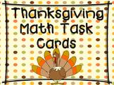 Thanksgiving Math Task Cards