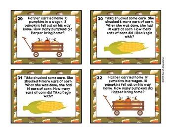 Thanksgiving Math Task Cards (First Grade)