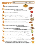 Thanksgiving Math Task