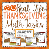 Thanksgiving Math Real Life Task Cards
