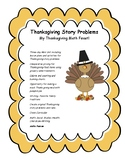 Holiday Story Problems- Holiday Math Feast!