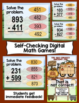Thanksgiving Math - 3rd Grade