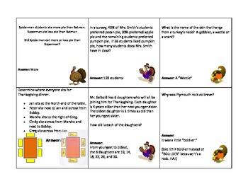 Thanksgiving Math Trivia