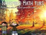 November Math Tubs