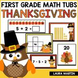 Thanksgiving Math Centers - First Grade