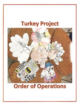 Thanksgiving Math Activity Order of Operations Turkey Project
