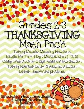 Thanksgiving Math Unit Grades 2-3