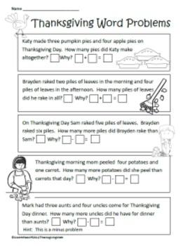 Thanksgiving Math Unit for common core
