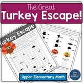 Thanksgiving Math Upper Elementary Project Based Learning