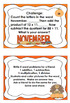 Thanksgiving Math Word Problems Centers Grade 3
