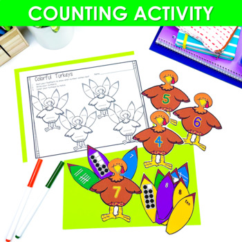 Math Centers ~ Thanksgiving Activities CCSS