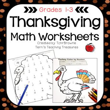 Thanksgiving Math Worksheets By Tchrbrowne Teachers Pay Teachers