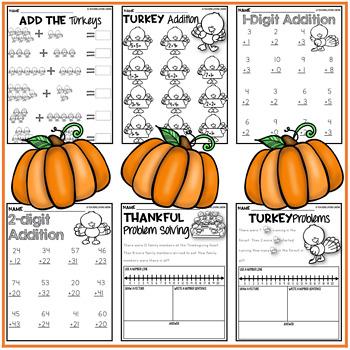 Thanksgiving Math Worksheets