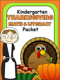 Thanksgiving Math and Literacy Packet For Kindergarten