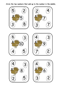 Thanksgiving Math Worksheets PDF  10 pages