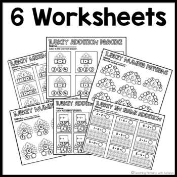 Thanksgiving Math Worksheets for First Grade