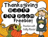 Thanksgiving Math Write the Room Freebie!