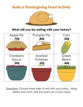 Thanksgiving Math Writing Activities