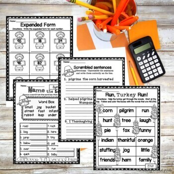 Thanksgiving Worksheets and Activities