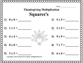 Thanksgiving Math and Language