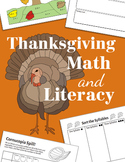 Thanksgiving Math and Literacy Activities ~ CC Aligned