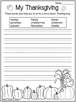 Thanksgiving Math and Literacy Activities   K-3