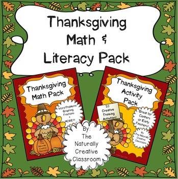 Thanksgiving Math and Literacy Activity Bundle