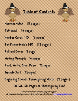 Thanksgiving Math and Literacy Activity Pack: 9 Activities!