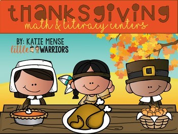 Thanksgiving Math and Literacy Center Activities For Kindergarten