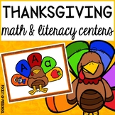 Thanksgiving Math and Literacy Centers for Preschool, Pre-