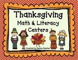 Thanksgiving Math and Literacy Centers- CC aligned