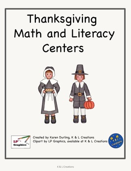 Thanksgiving Math and Literacy Centers/Task Cards-Grade 2