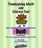 Thanksgiving Math and Literacy Centers and Activities