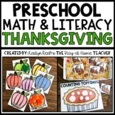 Thanksgiving Math and Literacy Centers for Toddlers and Preschool