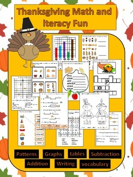 Thanksgiving Math and Literacy Fun Activitiies