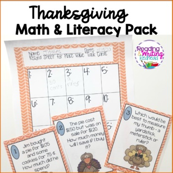 Thanksgiving Math and Literacy Pack