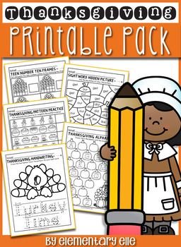 Thanksgiving Math and Literacy Printable Pack
