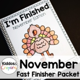 Thanksgiving Math and Literacy Printables- No Prep (Common Core Aligned)