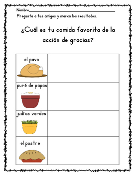 Thanksgiving Math and Literacy Spanish UPDATED