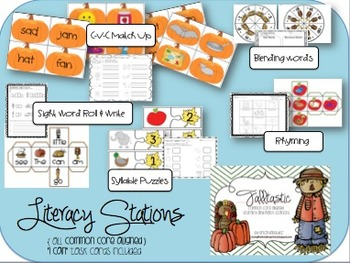 Thanksgiving Math and Literacy Stations!