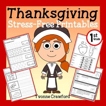 Thanksgiving NO PREP Printables - First Grade Common Core