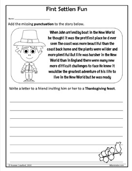 Thanksgiving NO PREP Printables - Sixth Grade Common Core Math and Literacy