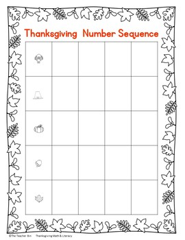 Kindergarten -1st -2nd grade -Special Education-Thanksgiving Math & Literacy