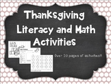 Thanksgiving Math and Literacy Worksheets