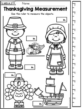 Thanksgiving Math and Literacy Worksheets Bundle (1st ...