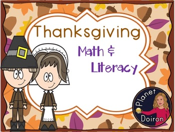 Thanksgiving Math and Literacy activities and Centers bundle