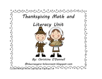 Thanksgiving Math and Literacy: numbers, letters, worksheets + more!