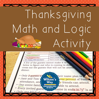Thanksgiving Fraction Addition and Multiplication Math and Logic Activity